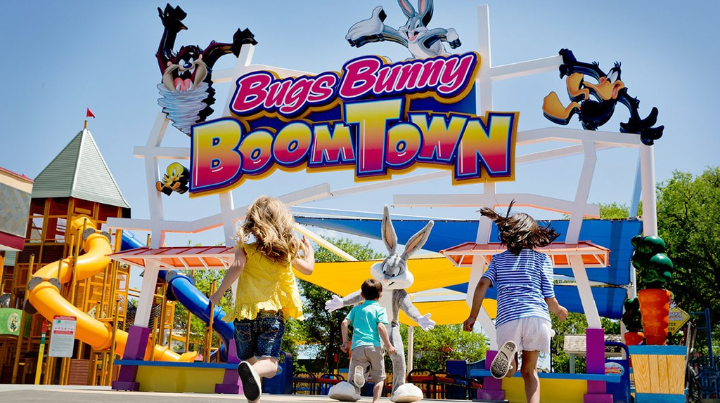 Bugs Bunny Boomtown is the kid-friendly section at Six Flags Over Texas