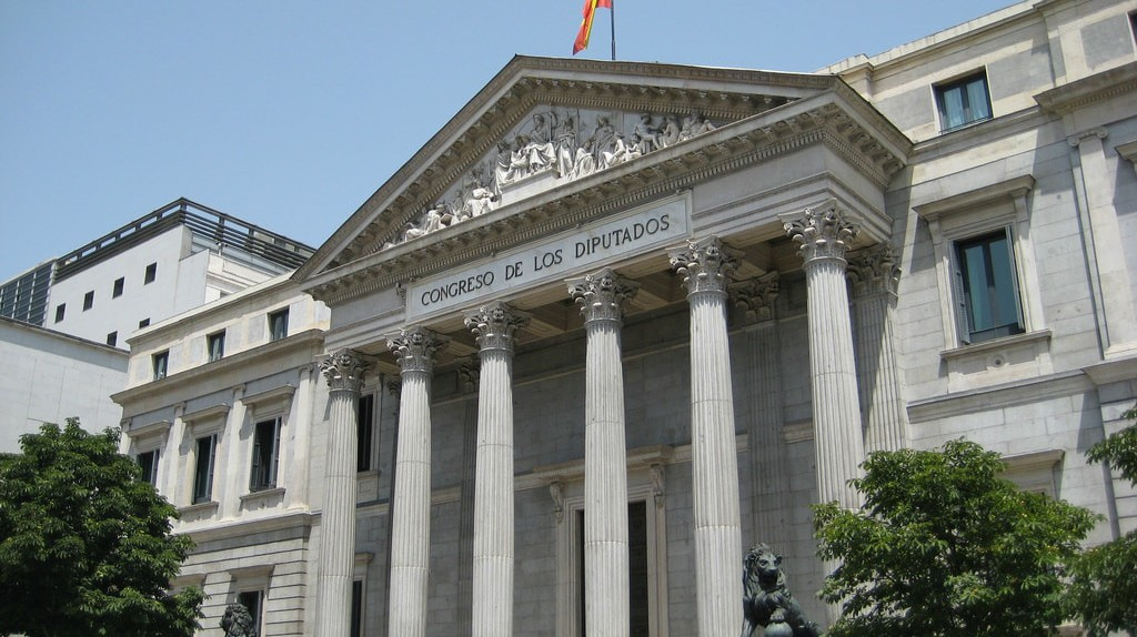 Spain's lower parliament in Madrid
