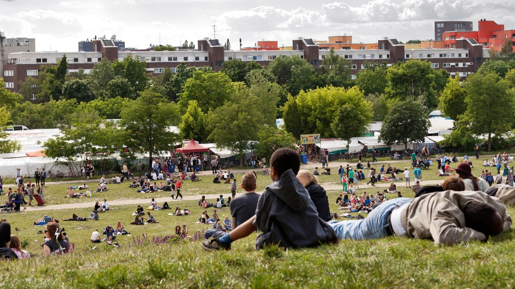 A Sunday afternoon at Mauer Park in Berlin