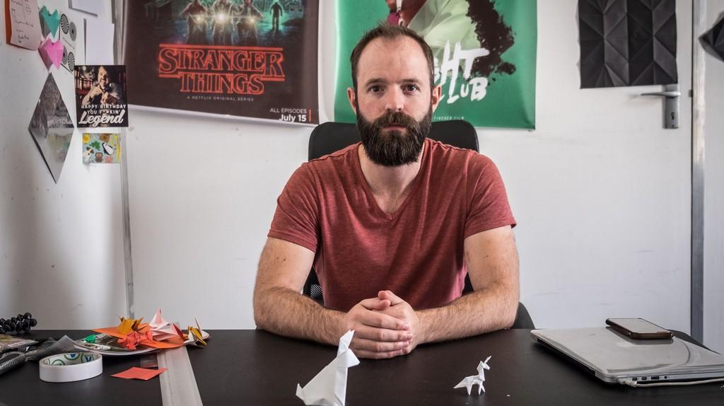 Ross Symons in his Cape Town studio