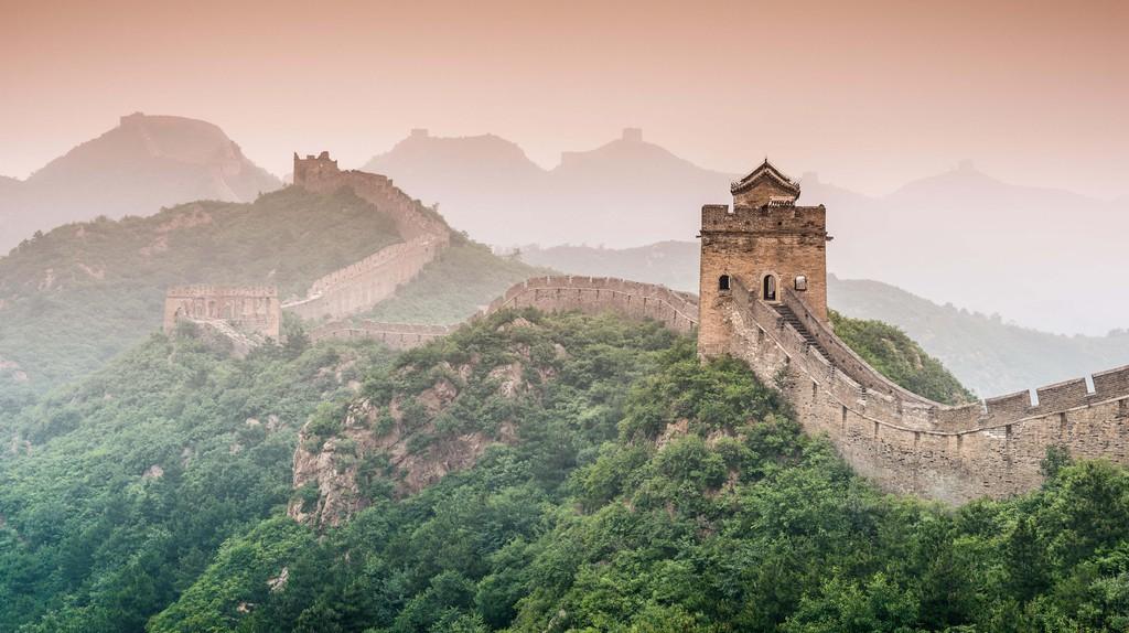 Great Wall of China at the Jinshanling section