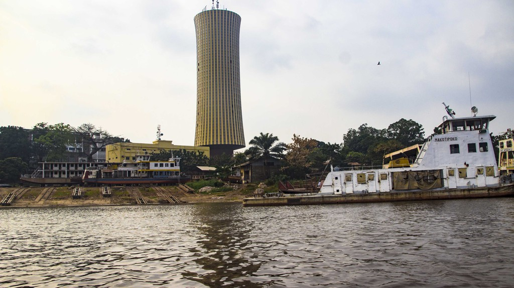 A view of Brazzaville from the Congo river