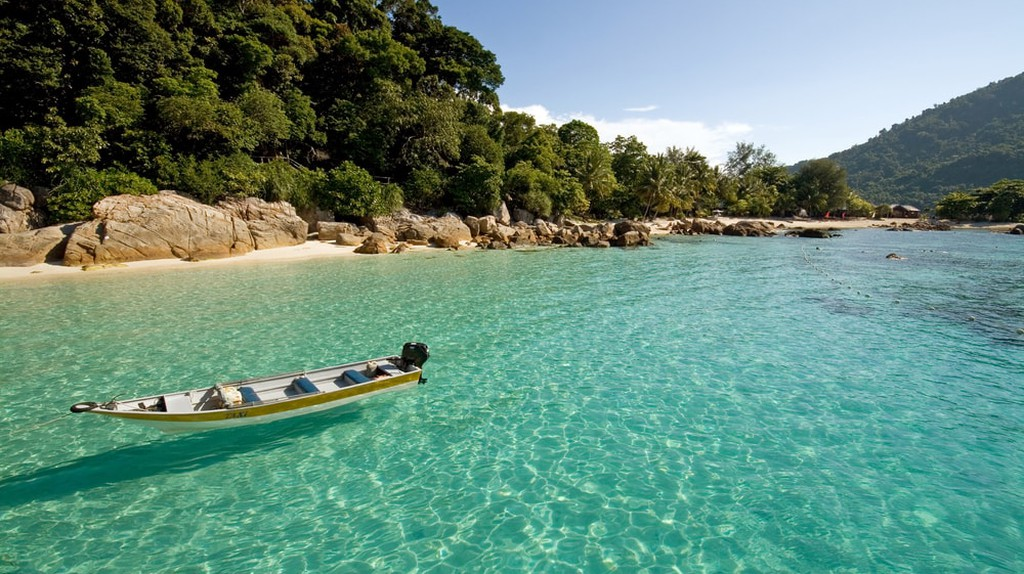 Clear waters in Perhentian Islands