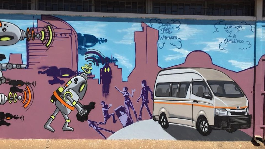 Street art is slowly becoming part of the Lusaka city landscape