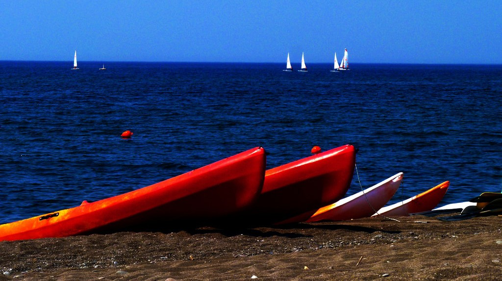 Kayaking at Skala Eressos, Lesvos