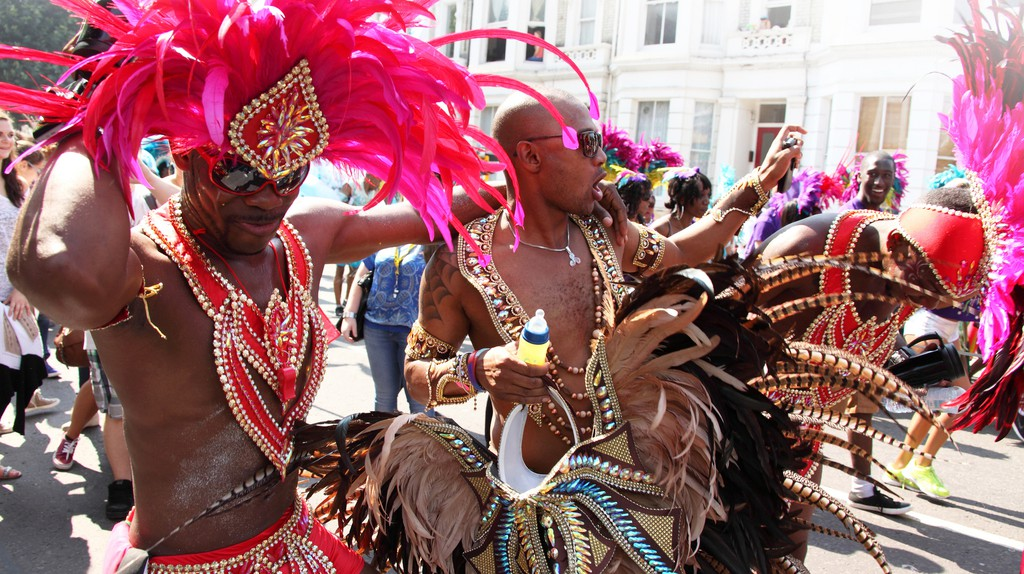 Revellers at Notting Hill Carnival