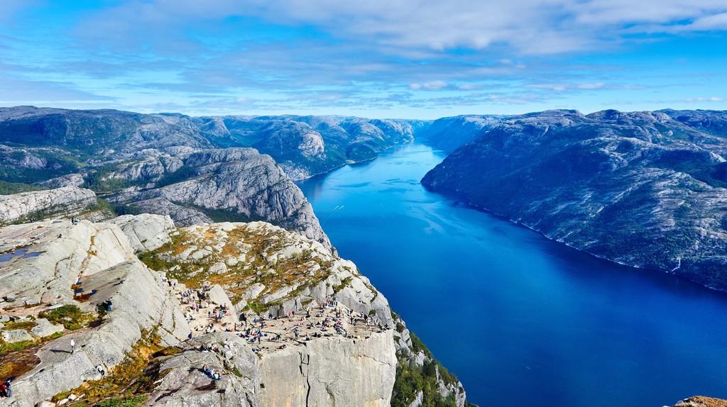 Preikestolen, or Pulpit Rock, is a very popular hike