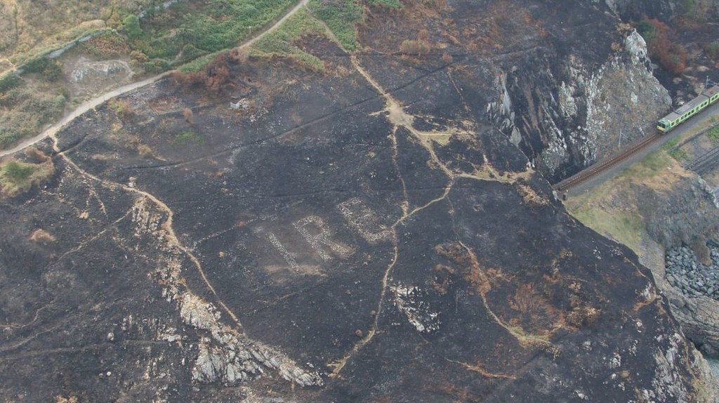 Wildfires Have Revealed a Hidden WWII Sign on the Irish Coast