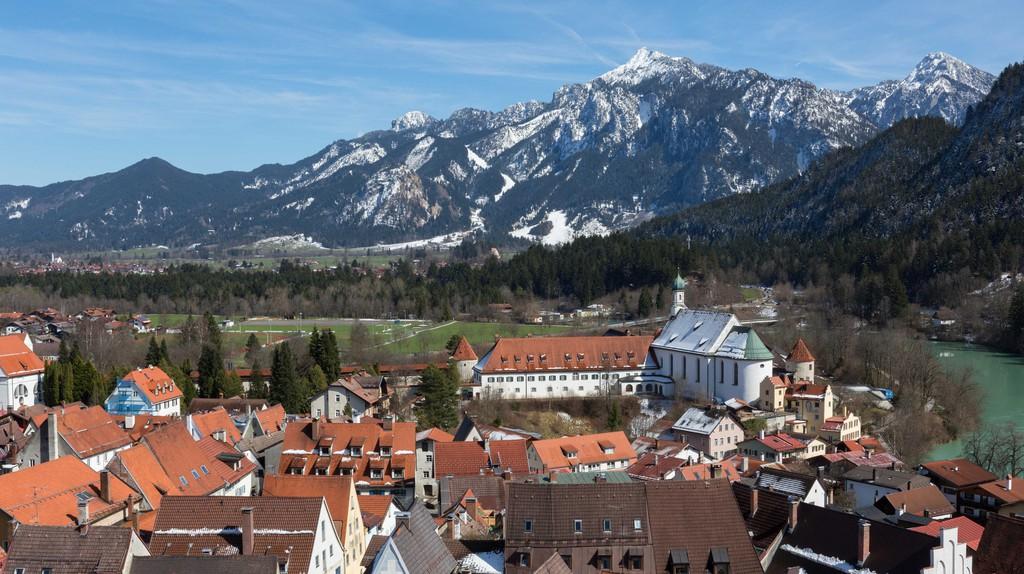 Hohes Schloss Fussen and the Bavarian Alps