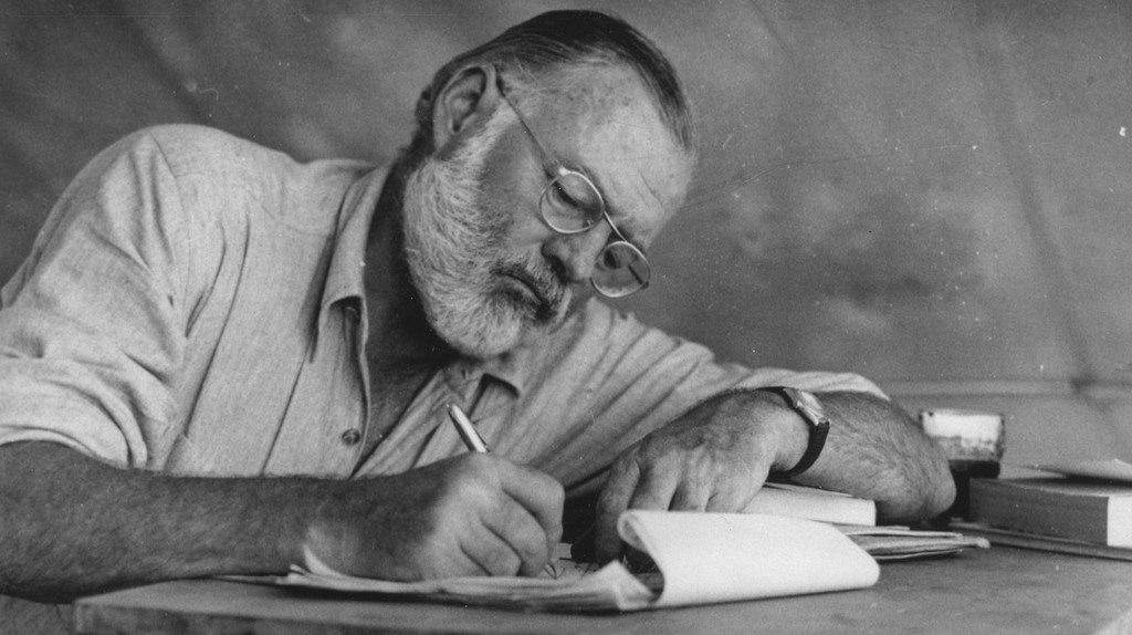 Hemingway writing in Kenya
