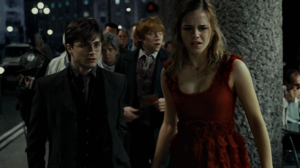 Daniel Radcliffe, Rupert Grint and Emma Watson in 'Harry Potter and the Deathly Hallows: Part I'