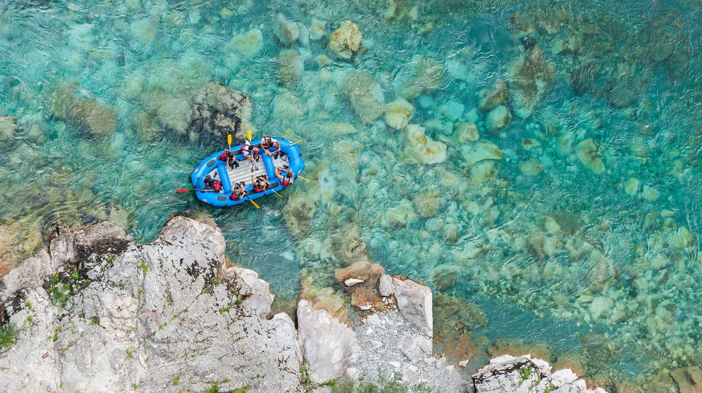 People rafting down the Tara Gorge
