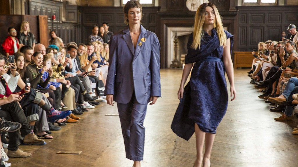 Sibyl Buck and Puma Rose Buck walk in the Músed by Lindsay Jones spring/summer 2018 show