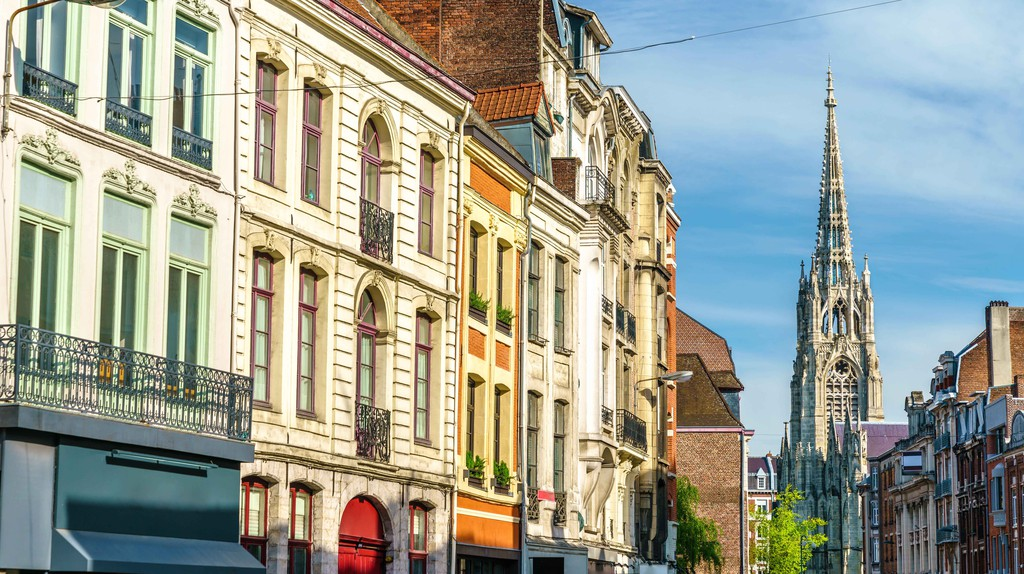 Traditional buildings in the old town of Lille, France