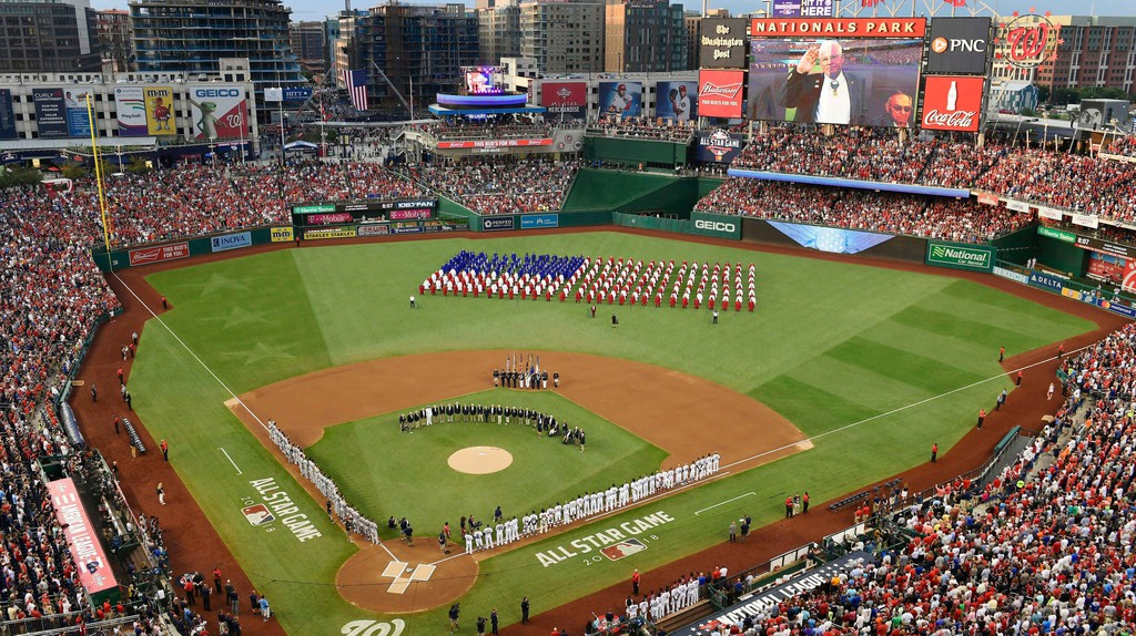 The 2018 MLB All-Star Game at Nationals Park in Washington, DC