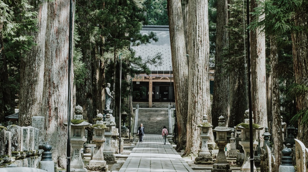 Okunoin temple and cemetery, Mount Koyasan, Japan