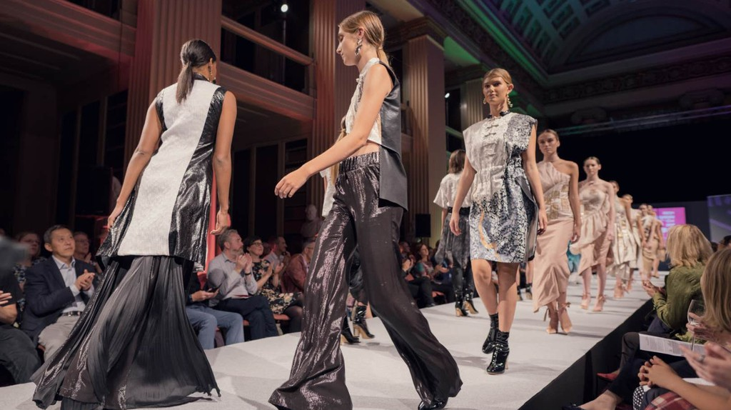 Shanghai International College of Fashion runway show at Edinburgh Festival, August 2018