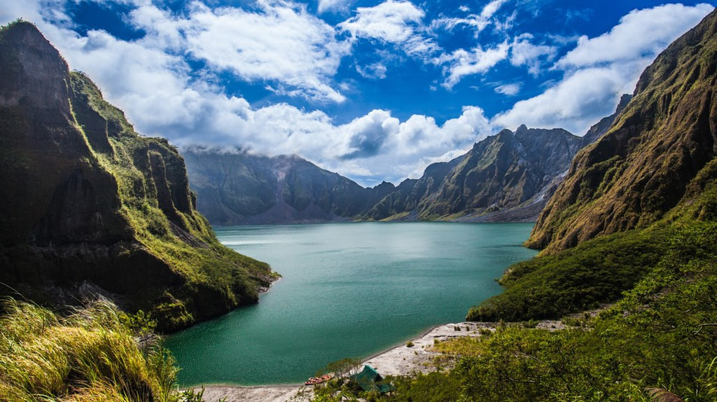 Mount Pinatubo, Philippines.