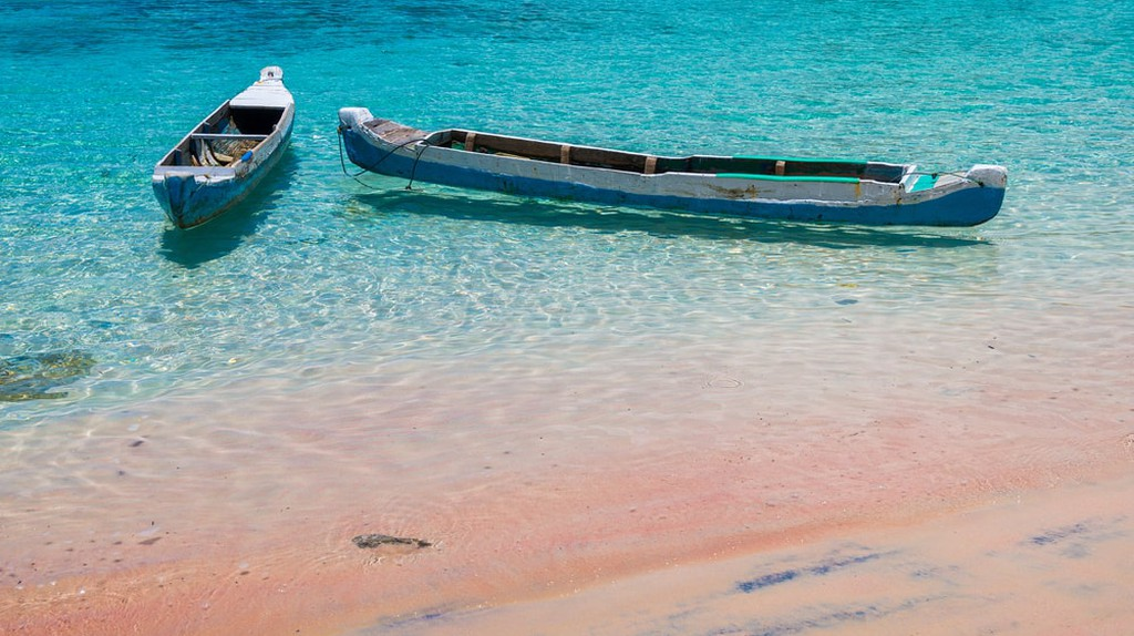 Pink beach, Komodo National Park, Indonesia