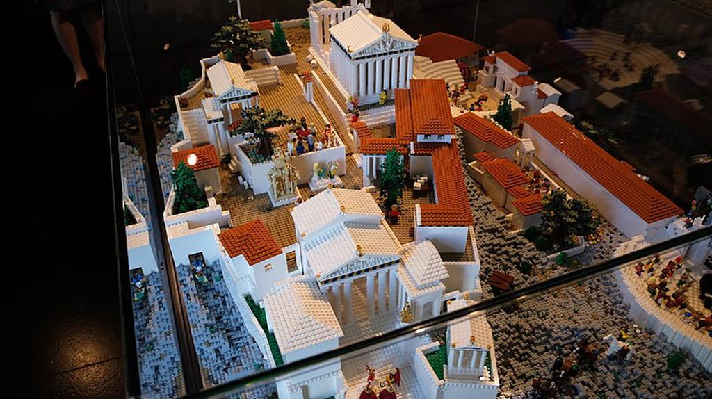 Lego model of the Acropolis