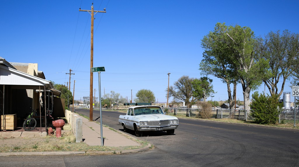 Oak Street in Marfa, Texas