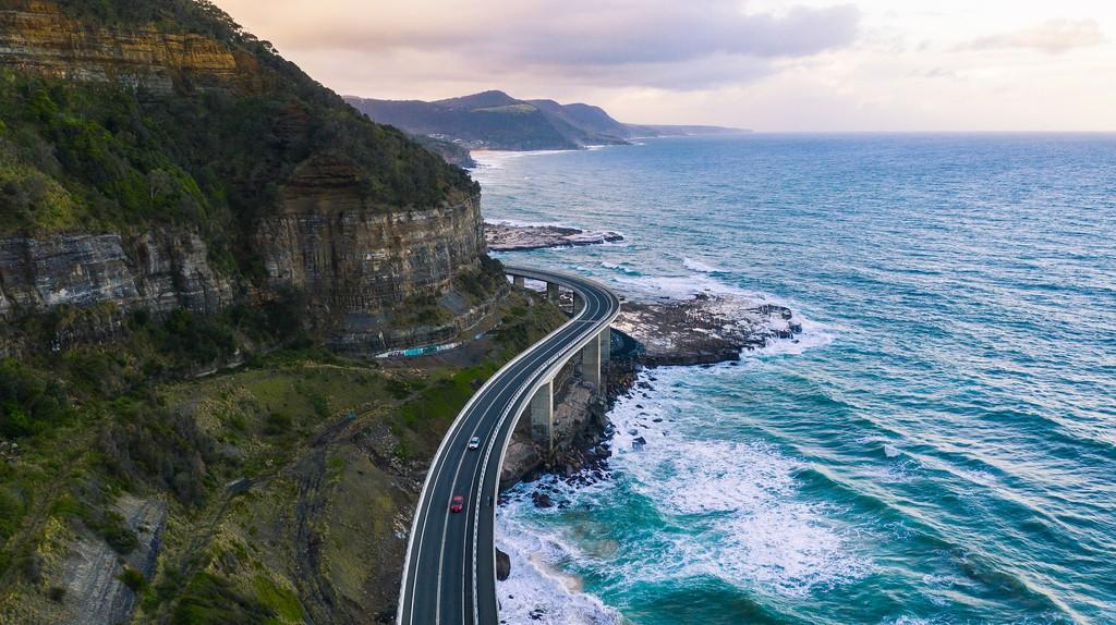 The impressive Sea Cliff Bridge