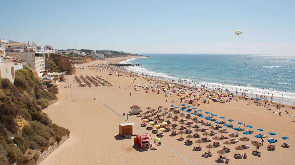 The beach at Albufeira