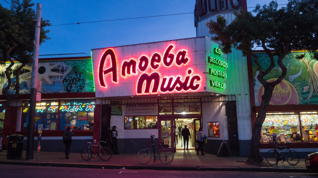 The independent Amoeba Music has three locations in California