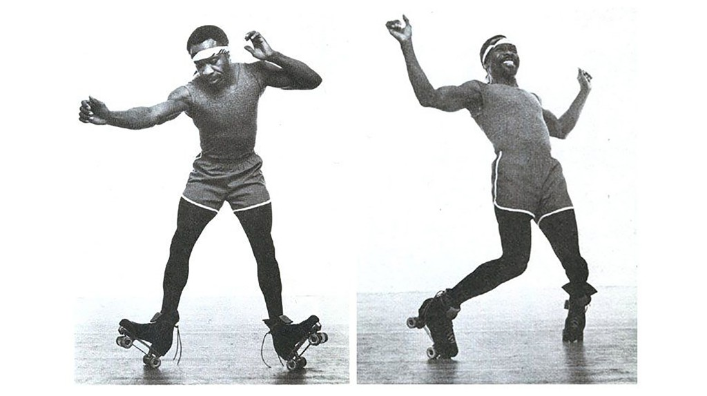 Roller disco legend Bill Butler skates in these images from his book Jammin's, co-authored by Ellen Shoen.