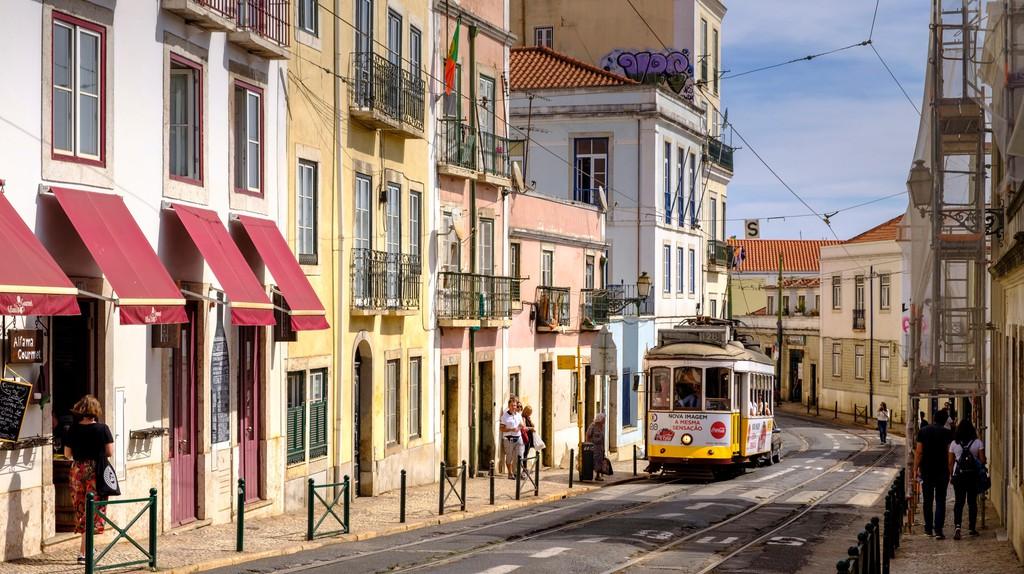 Streets of Alfama Neighborhood, Lisbon, Portugal
