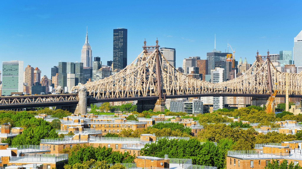 Queensborough Bridge between Manhattan and Long Island City