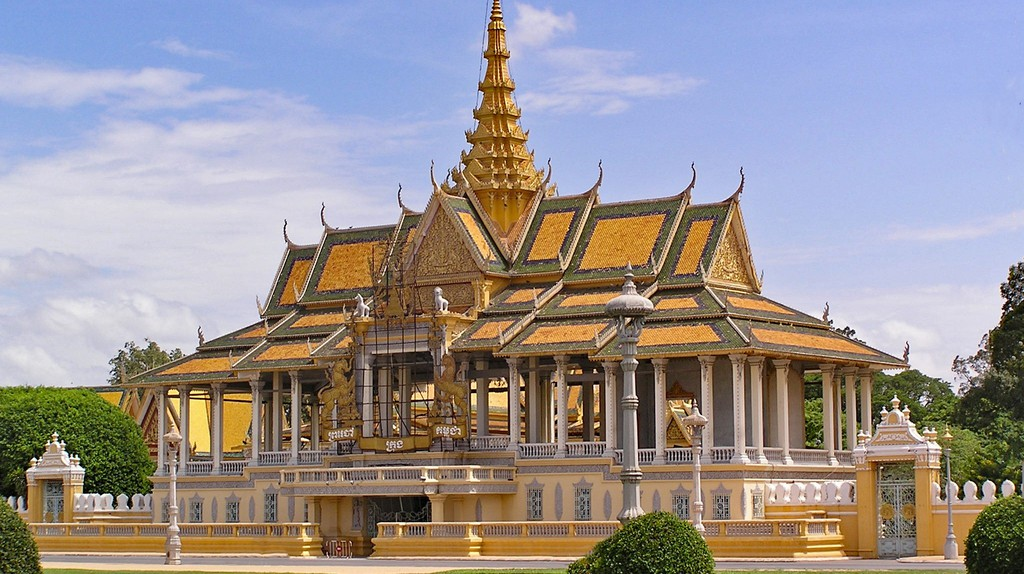 The Royal Palace and Silver Pagoda are popular tourist attractions in Phnom Penh, Cambodia.