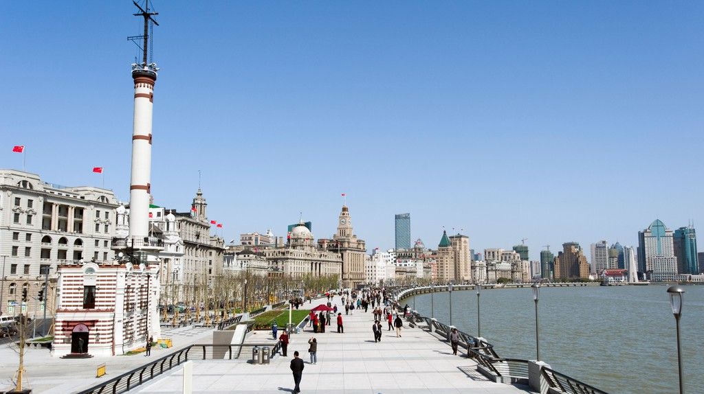 The Bund is a waterfront area in Shanghai