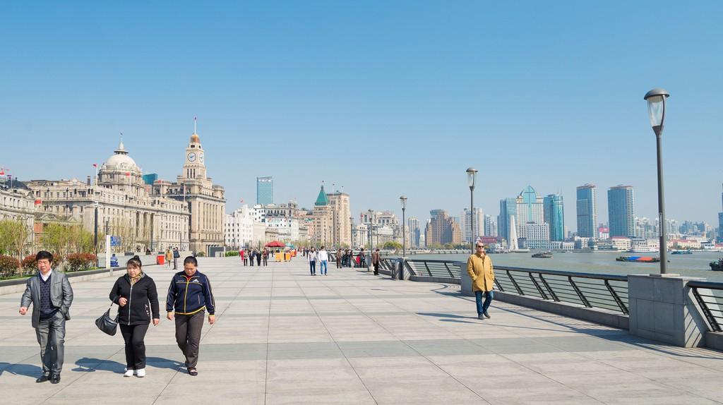 The Bund in Shanghai riverside, China