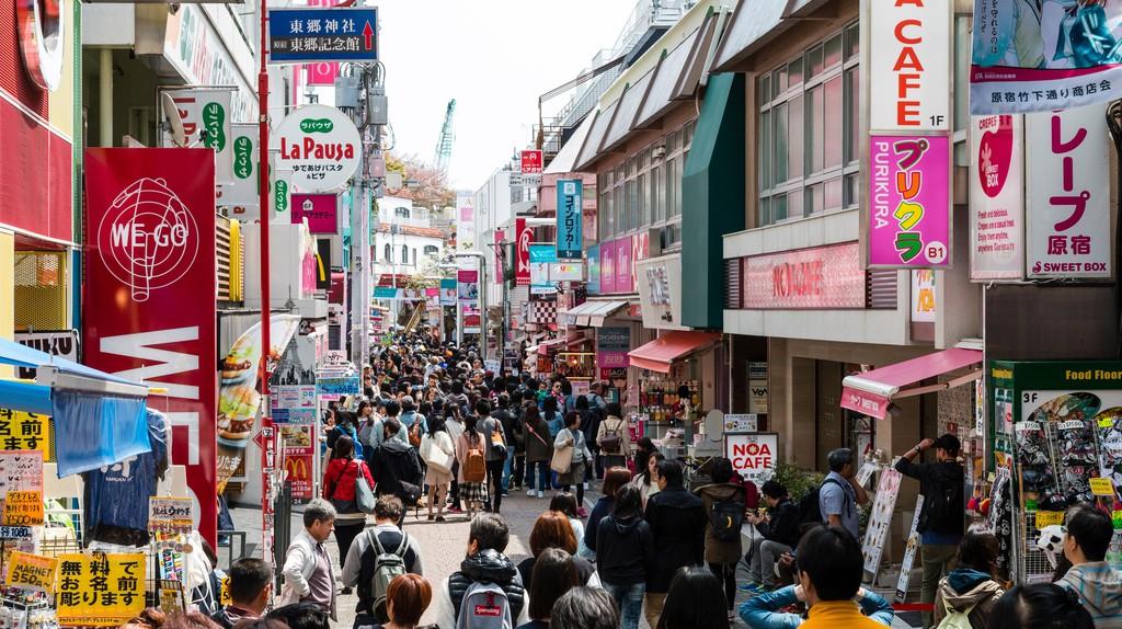 Takeshita Dori in Harajuku,Tokyo, is always a hive of activity