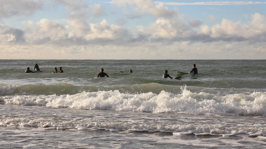 Surfers await the big one in Klitmøller ('Cold Hawaii')