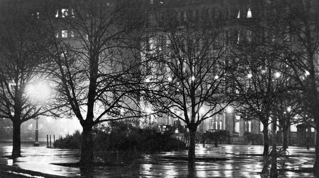 'Light Reflections in a Park at Night,' New York City. Photograph by Alfred Stieglitz, c. 1897