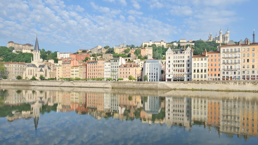The Rhône and the Saône converge in Lyon