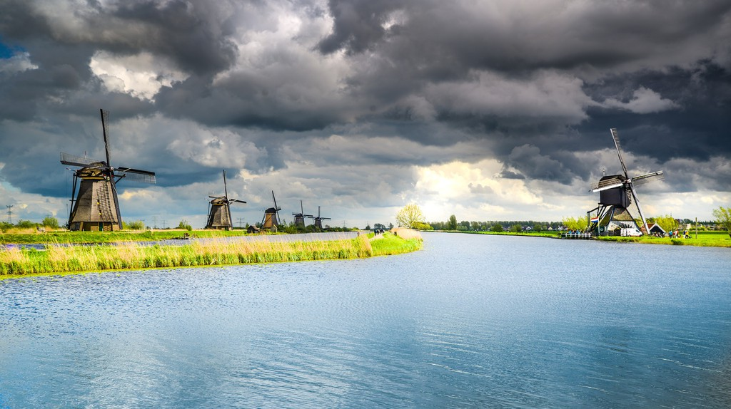Altogether, there are 19 windmills at Kinderdijk