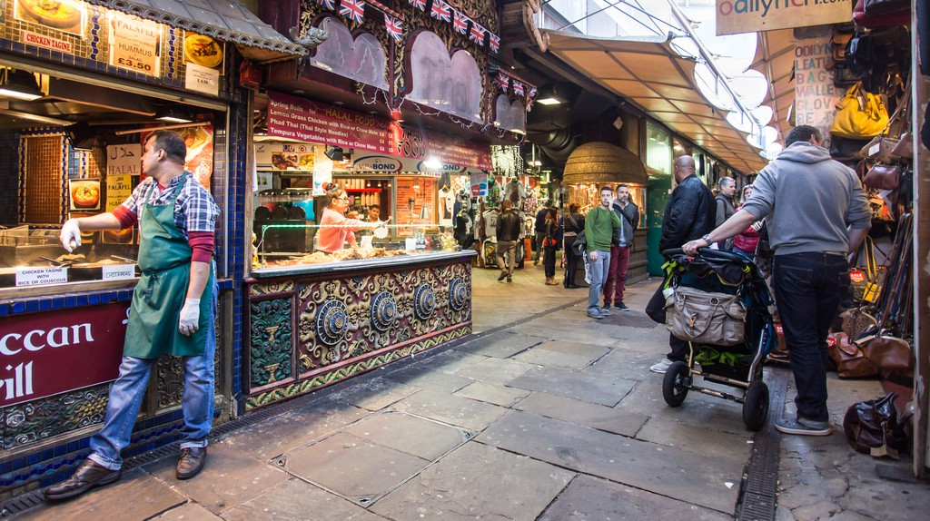 Visitors explore The Stables at Camden Market, London