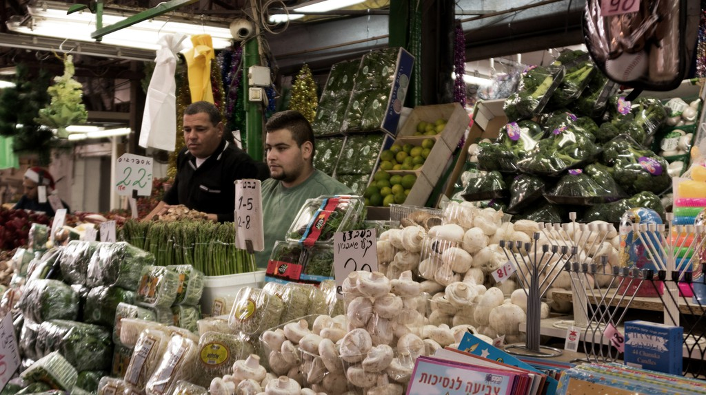 Vegan shoppers are spoiled for choice at Carmel Market in Tel Aviv