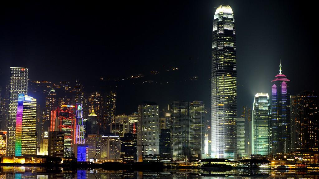 Night scene of Hong Kong.