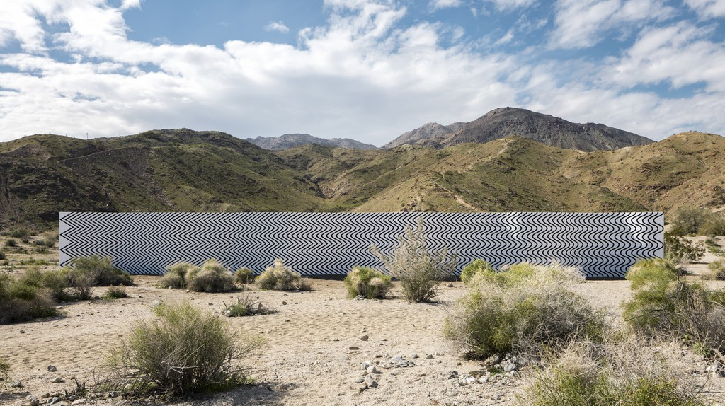"""Palm Springs' desert is home to the Desert X installation of Claudia Comte's """"Curves and Zigzags"""""""