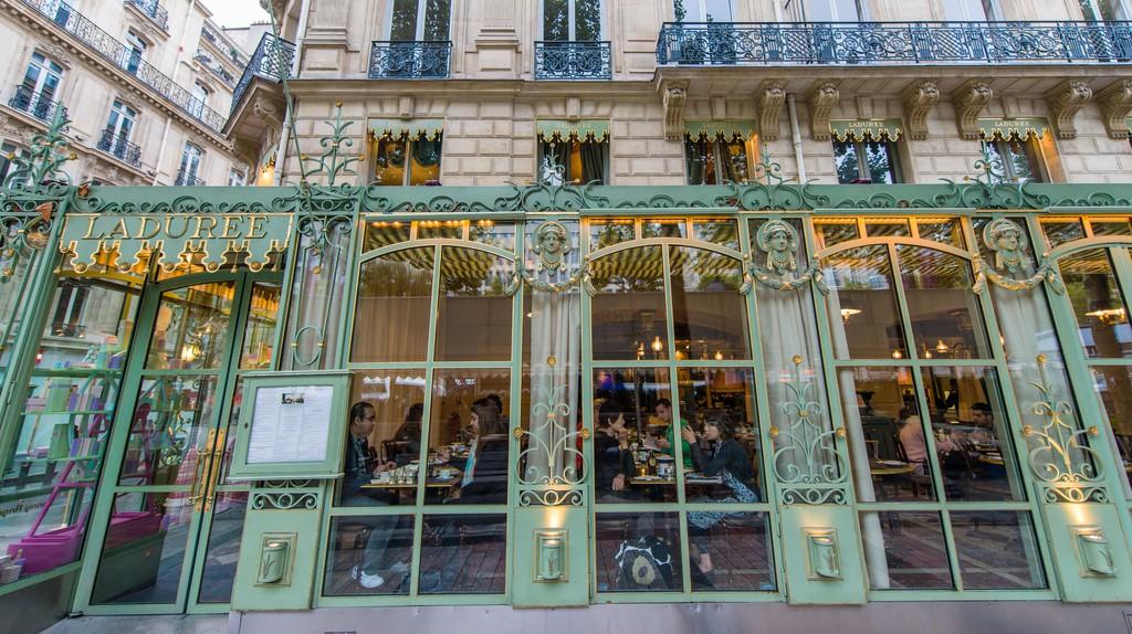 Laduree on the Champs-Elysees, Paris