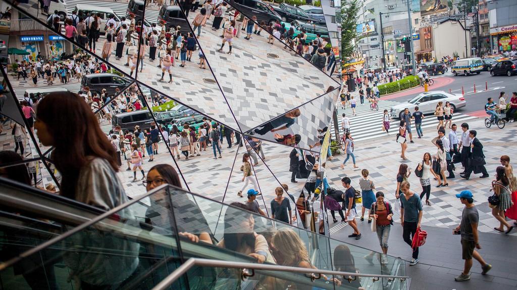 Tokyu Plaza on Omotesando Street in Harajuku, Tokyo, is a bustling place