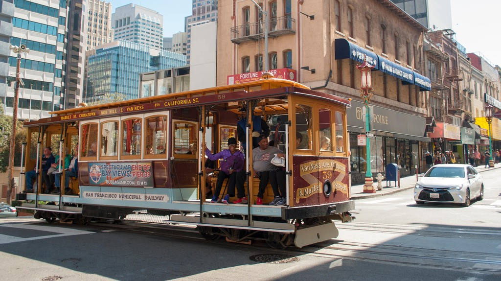 Famous San Francisco city's cable car