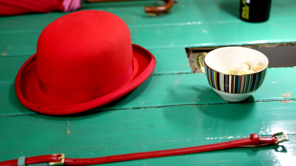 Items from Paul Smith's spring/summer 2010 collection adorn a tabletop
