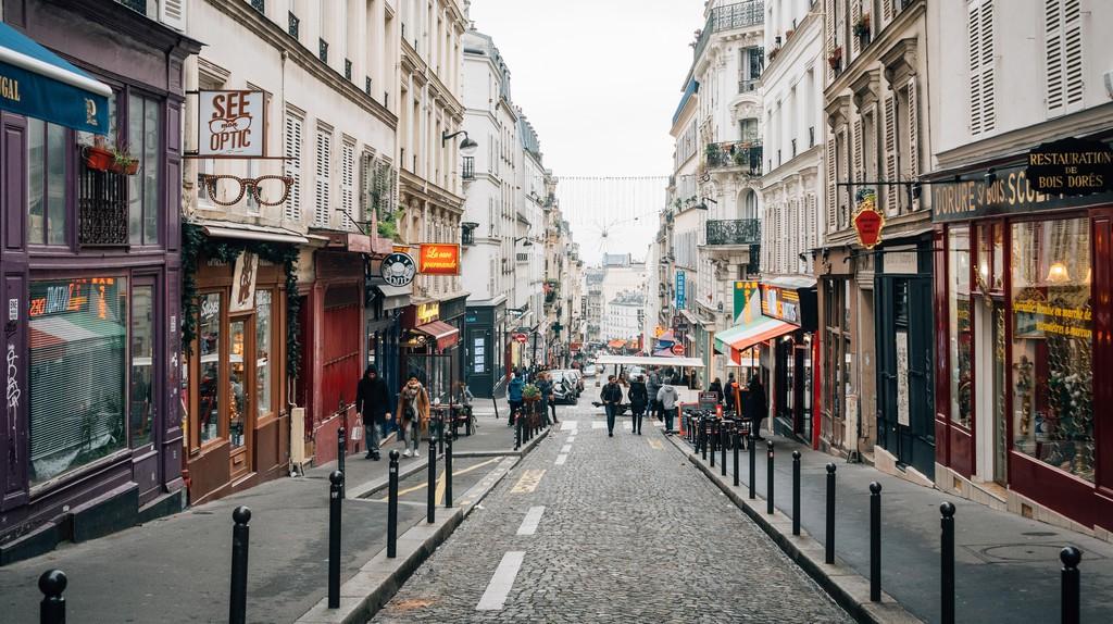 Rue des Martyrs in Montmartre, Paris