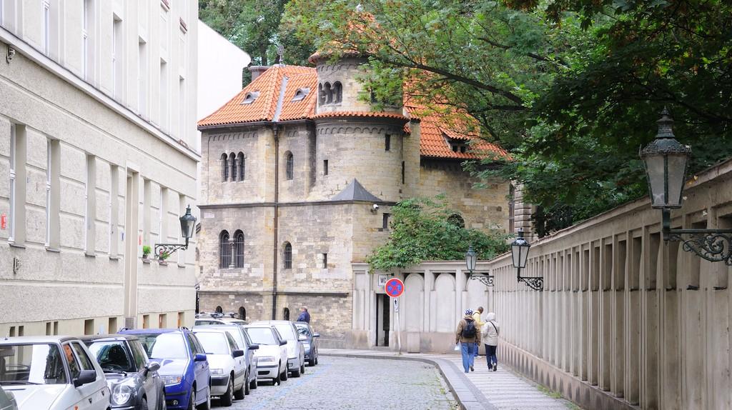A quiet street in the Jewish Quarter of Prague