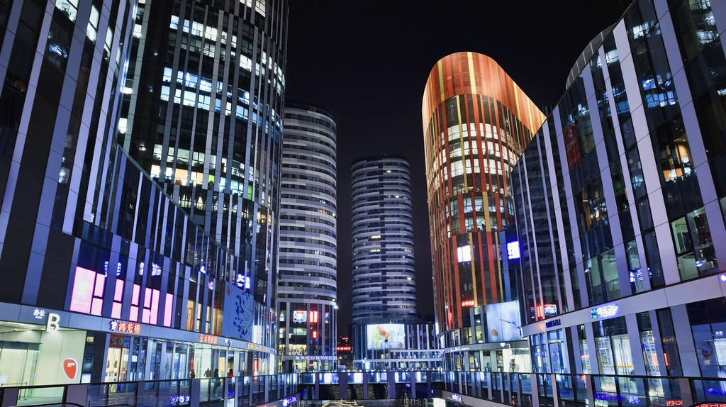 SOHO Sanlitun is a new mixed commercial and residential area in Beijing, China